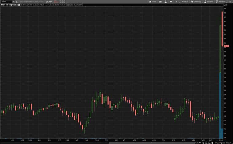 health care stocks (RAPT stock)
